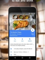 Preview google maps find restaurants
